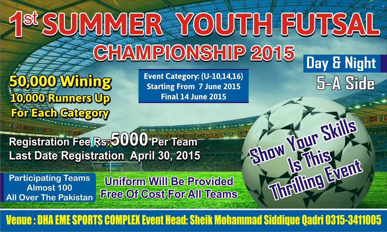 1st Summer Youth Futsal Championship 2015: Registrations Open