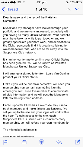 Pakistan's first ever official Manchester United fan club founded