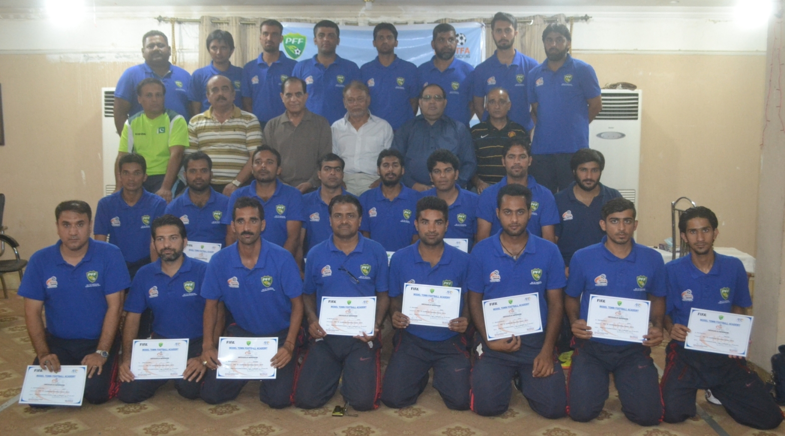 "PFF ""D"" certificate coaching course 2015 concluded here at Lahore"