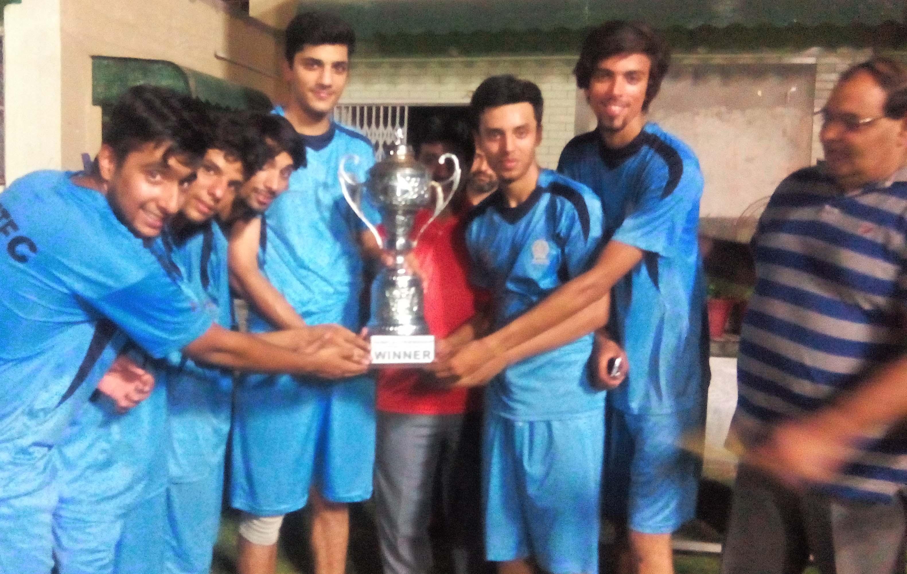 Model Town Football Club lift trophy