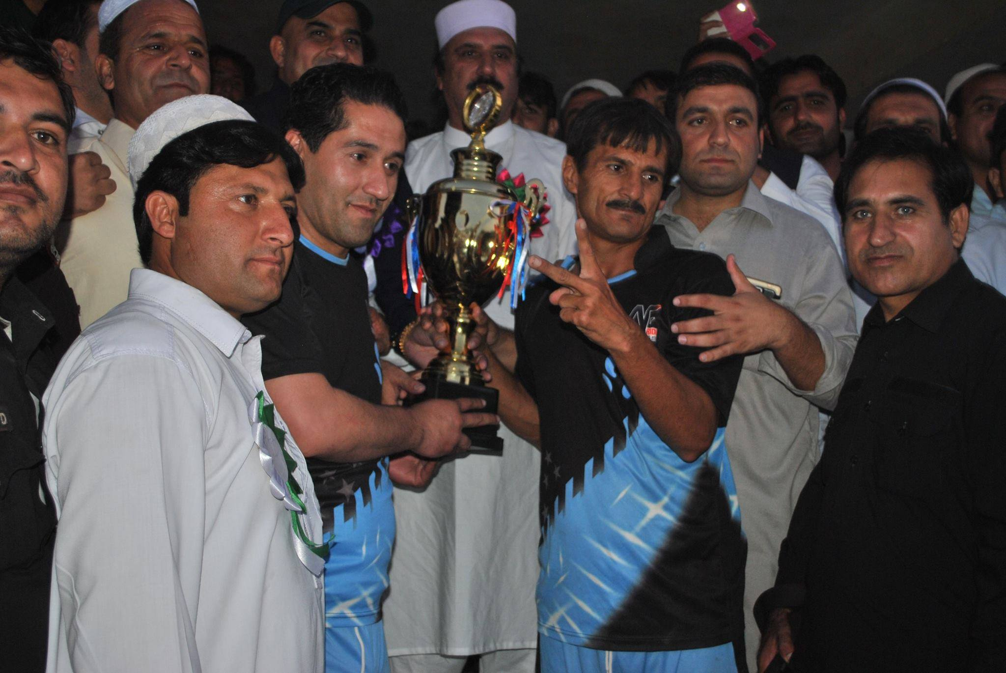 Aman FC lifting 2015 All Khyber Agency Independence Day Football Cup