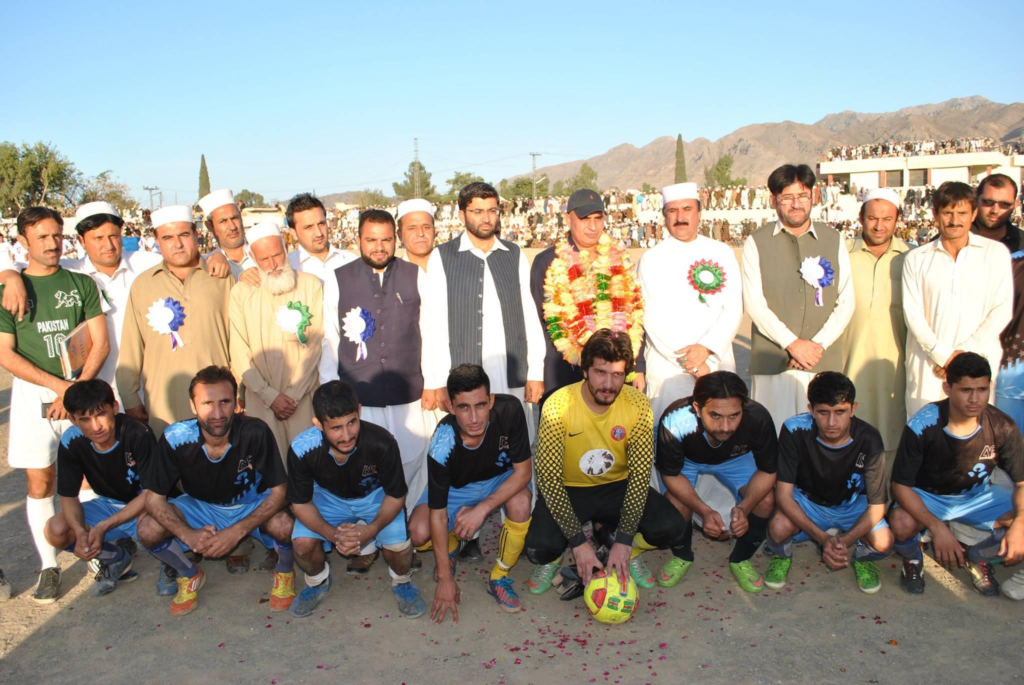 FATA Senator Taj Muhammad Afridi with Aman FC