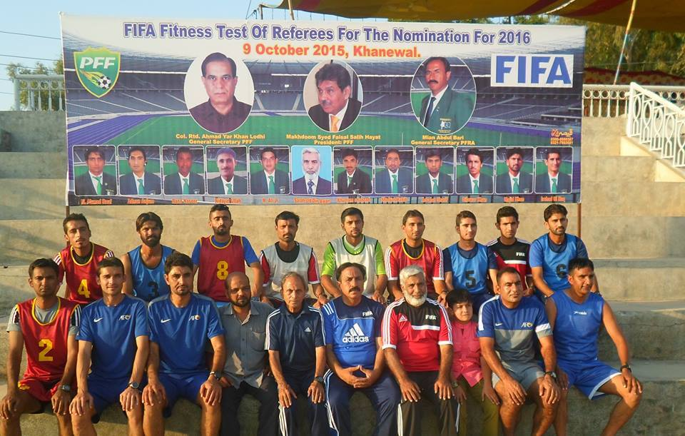 FIFA Fitness Test for Referees held in Khanewal