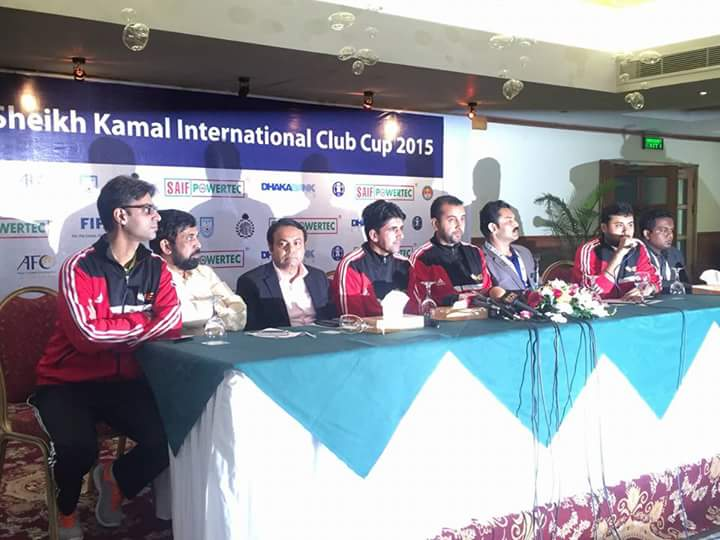 K-Electric press conference before Sheikh Kamal International Club Cup 2015
