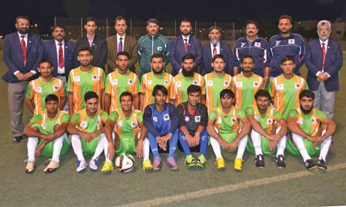 Malik Saad Trust Memorial football side from Khyber Pakhtunkhwa in Bahrain