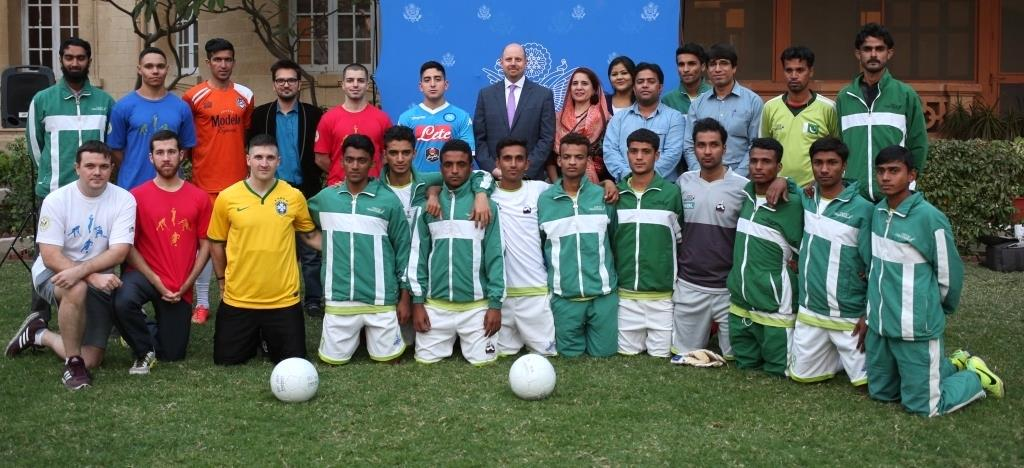 U.S. Consulate Karachi hosts youth football clinic