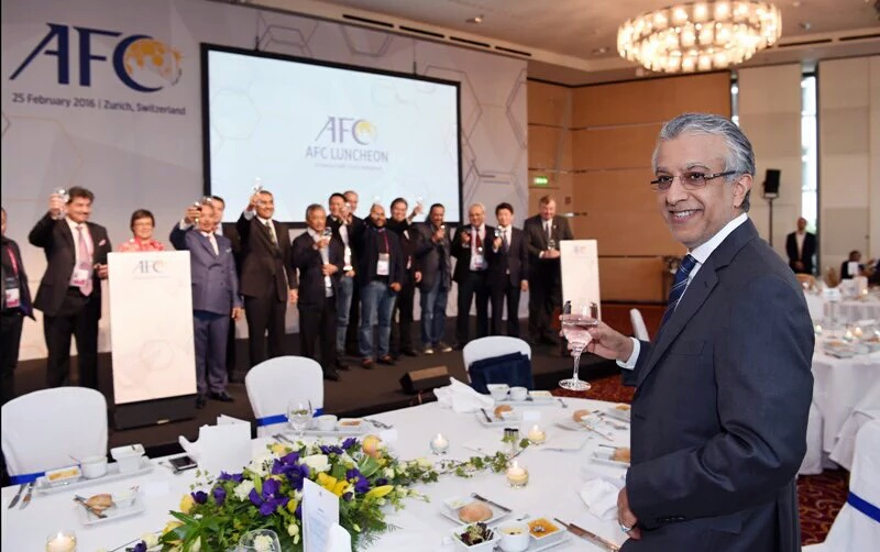 AFC - including Faisal Saleh Hayat - pledging support to Sheikh Salman for 2016 FIFA elections