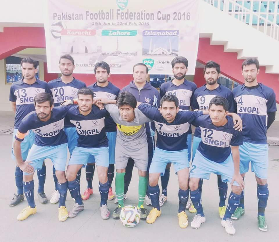 SNGPL in PFF Cup 2016