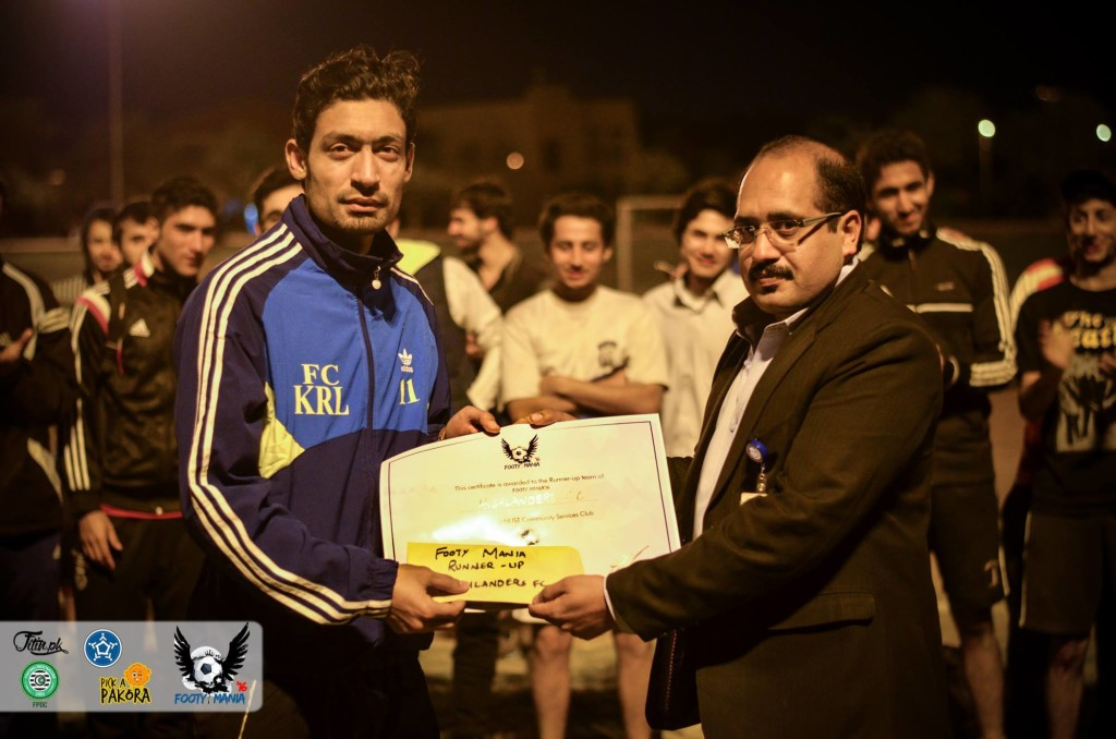 Murtaza Hussain (KRL) was guest player for Highlanders FC - runners up in Footy Mania 16