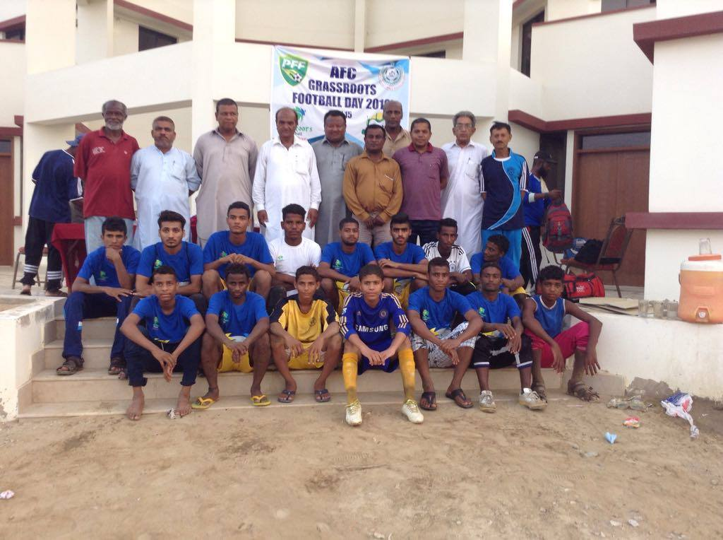 DFA West, Sindh FA officials at FIFA Goal Project Karachi for AFC Grassroots Day 15 May 2016