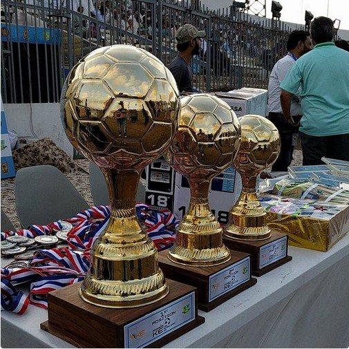 KE Lyari League 2016 trophies