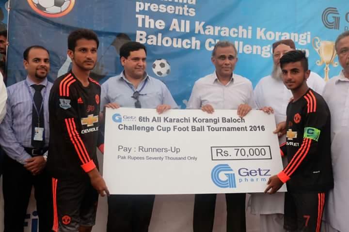Korangi Baloch was 2nd in Getz Pharma Korangi Baloch Challenge Cup 2016