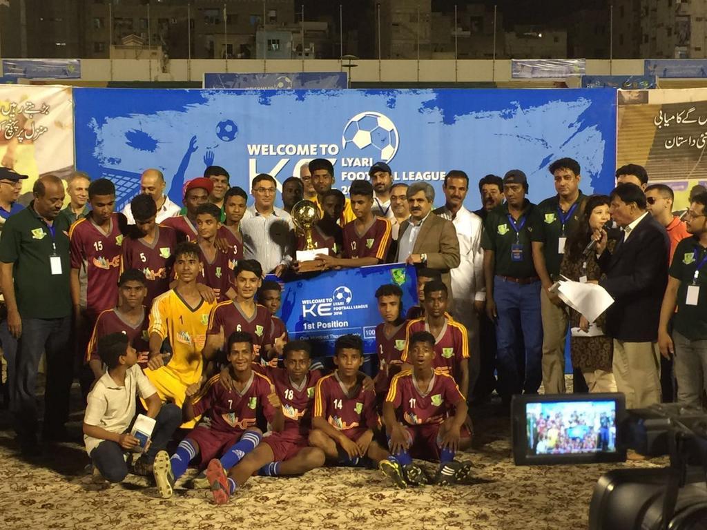 Team Imam Baksh Sajidi - KE Lyari League 2016 winners