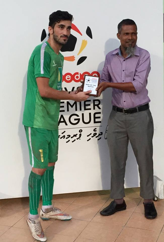 Saqib Hanif earns Man of the Match award for BG Sports in Maldives Premier League