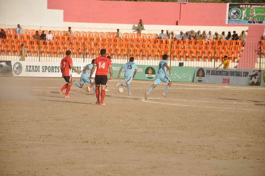 Quetta vs Chaman action2 - PPL Balochistan Cup 2016 final