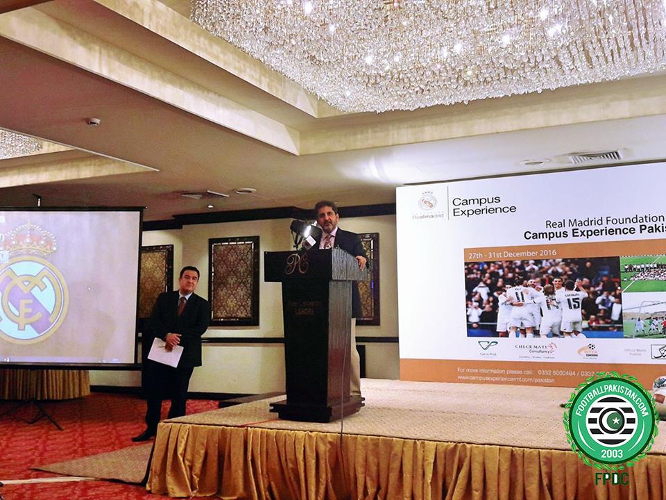 Salman Sarwar briefing the media. Picture Credit: Farid Khan/FPDC