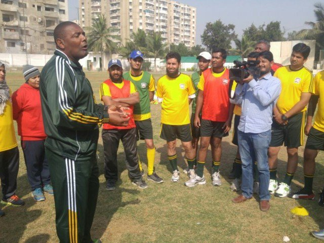 Brazilian coach awestruck by football talent in Lyari [Express Tribune]