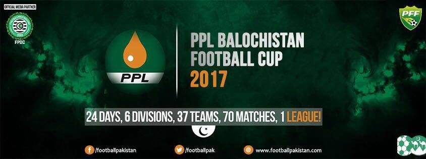 Largest ever sponsored PPL Balochistan Football Cup 2017 kicks off