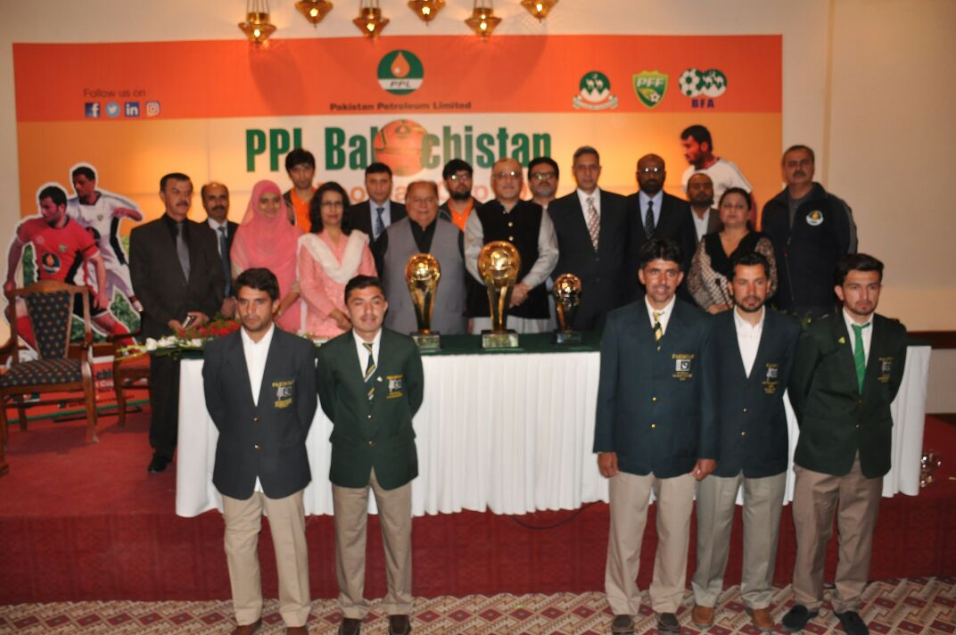PPL Balochistan Football Cup 2017 Trophy Unveiled.