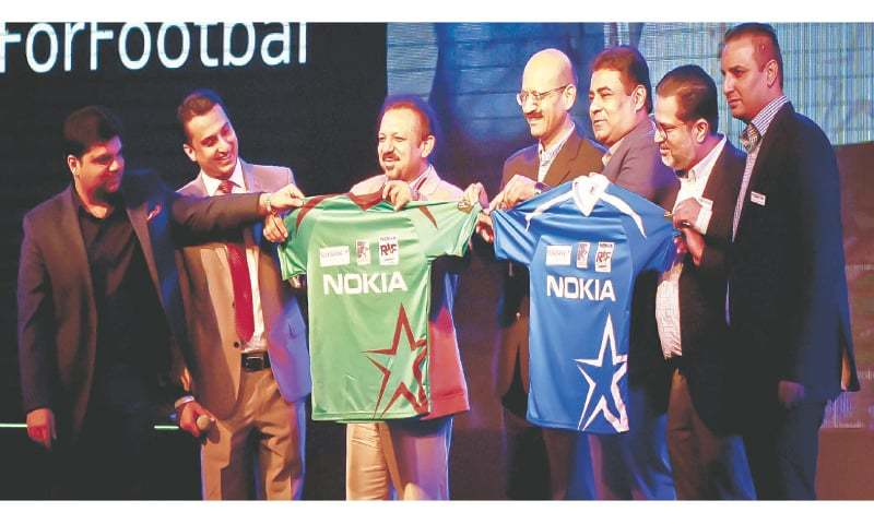 Trophy, kits for grand exhibition soccer matches unveiled [Dawn]