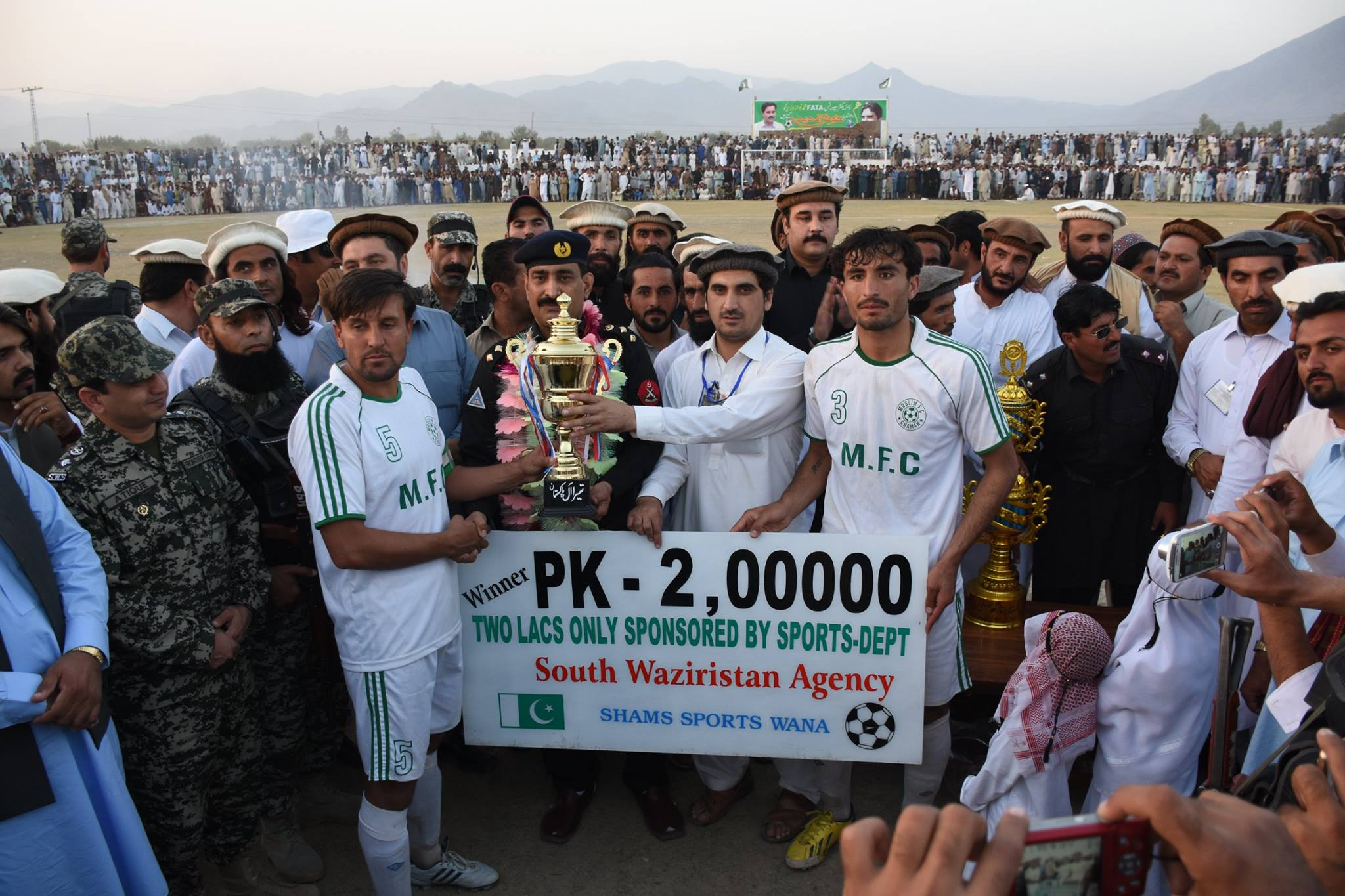 Euphoric crowd cheer football festivity as Muslim FC wins Peace Cup in Waziristan [Geo]