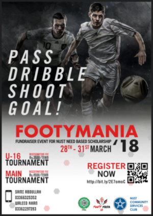 Nust Footy Mania set to kick off in Islamabad