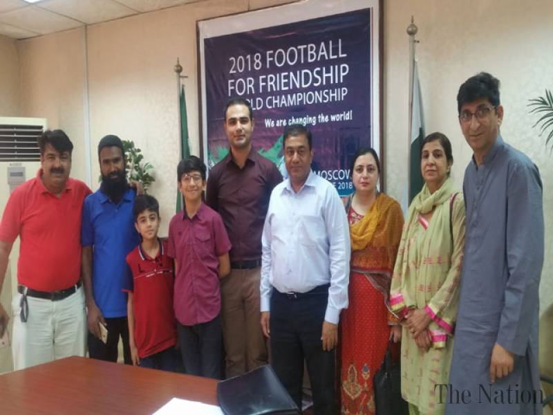 Pakistan picks young ambassadors for 'Football for Friendship 2018' [The Nation]
