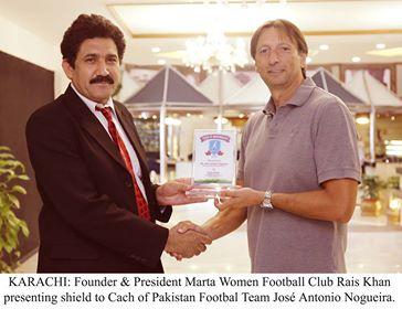 Marta Women FC's bosses meet Nogueira [The News]
