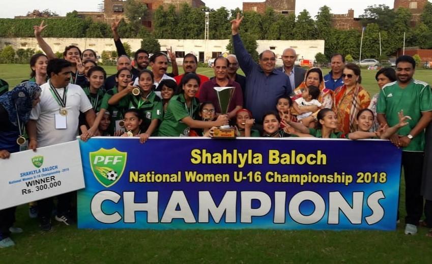 MTFA win Shahlyla Baloch U-16 Women's Championship [The Nation]