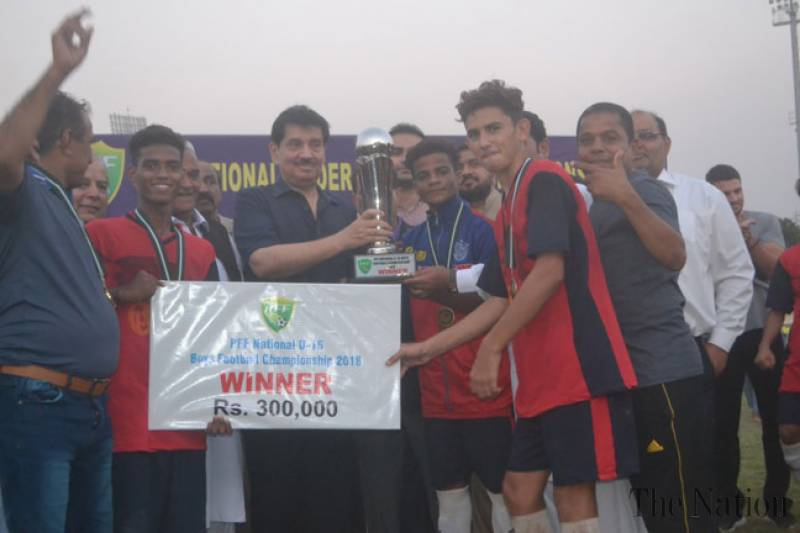 Sindh annex National Under-15 football trophy [The Nation]