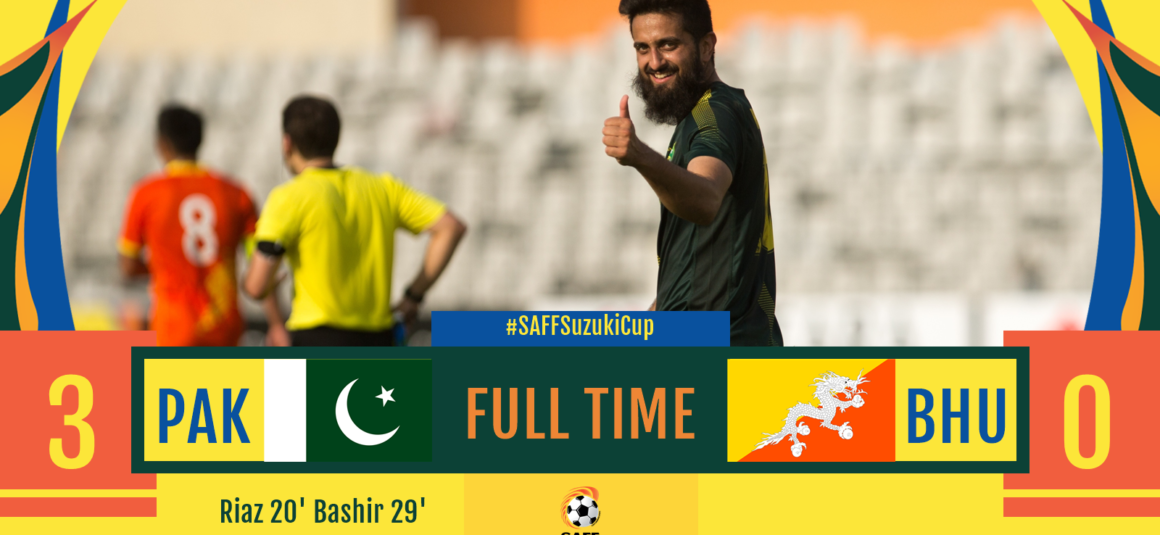 Pakistan qualify for SAFF Cup semi-finals after 13 years, beat Bhutan 3-0 [Dawn]