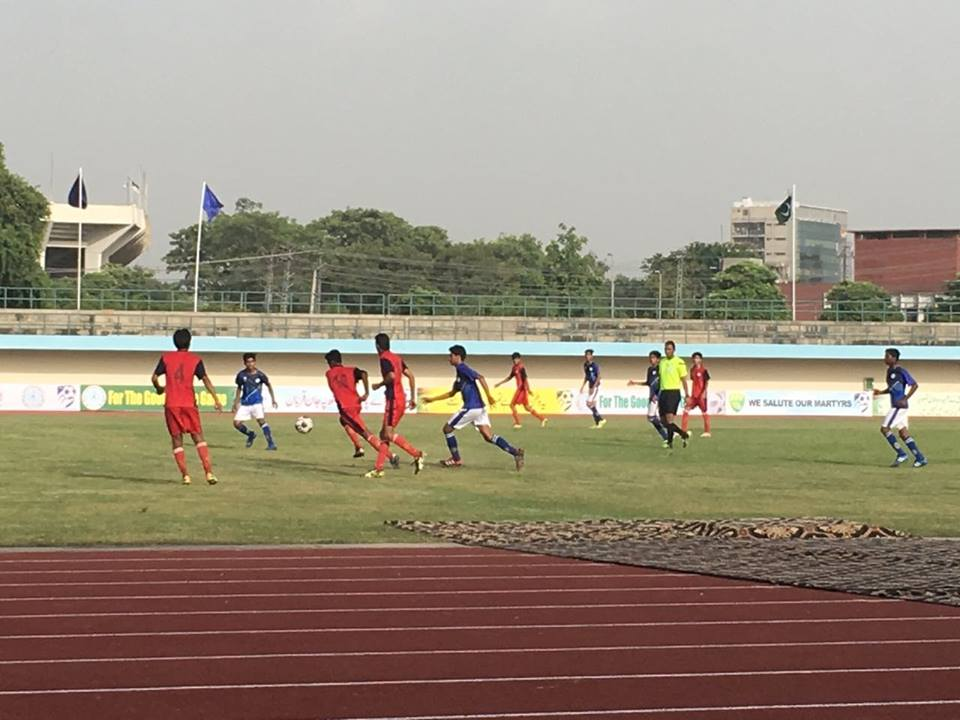 Two matches held in U-15 Football Cup [The Nation]