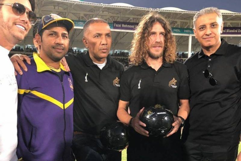 Captain Fantastic Puyol kicks of WSS tickets at PSL Final [The Nation]