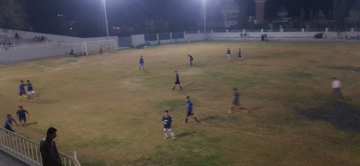 First Football Match with Floodlights held in Chitral