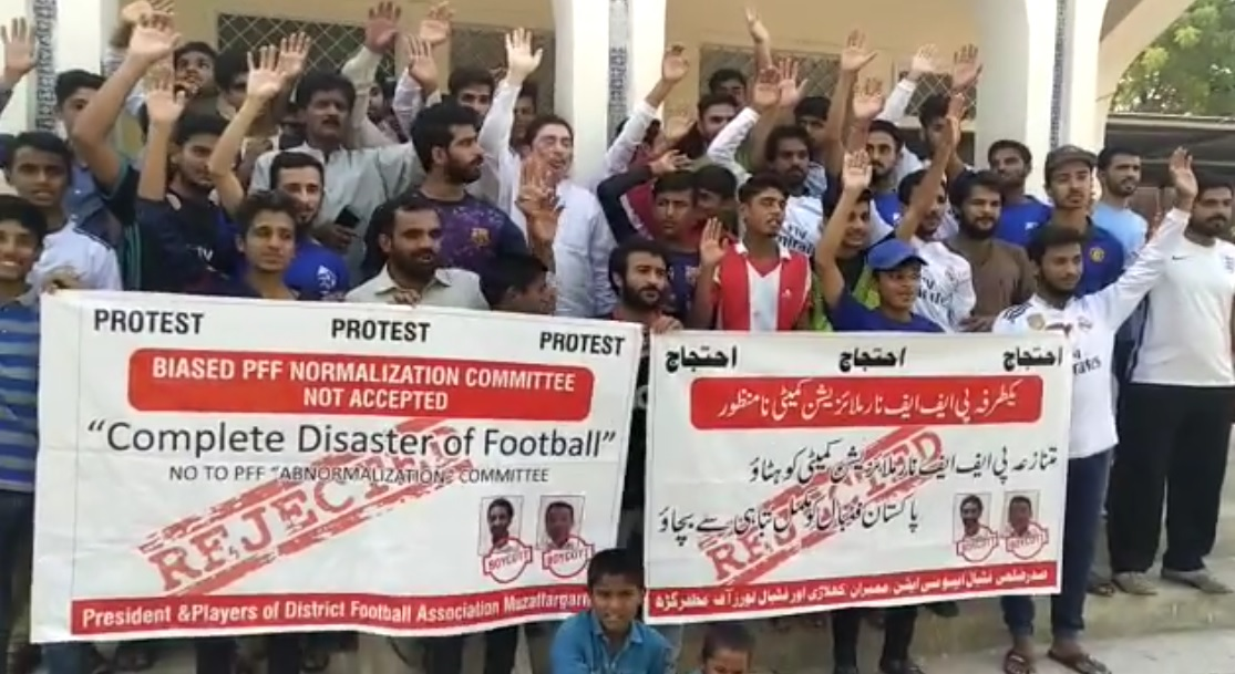 Protest held against PFF normalisation committee [The Nation]