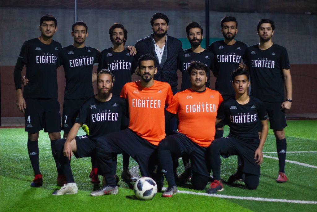 Real estate entrepreneurs make futsal team in Islamabad.
