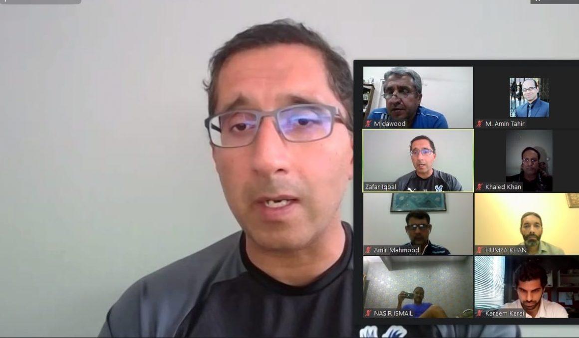 Sports medicine expert Dr Zaf spoke with Pak football fraternity [Geo]