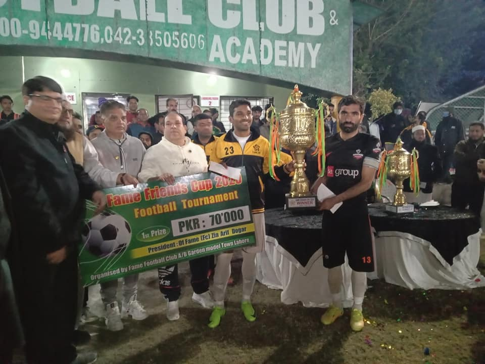 Fame Sports and DHA emerge joint winners in Fame Friends Cup 2020 [The Nation]